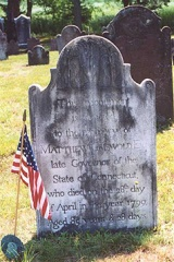 Matthew Griswold is buried in the Duck River Cemetery in Old Lyme, CT