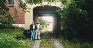 Jim and I at Risegård, July 2002