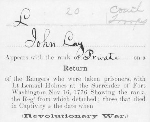 From the military service records on file at the National Archives