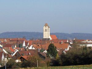 St. Veit Kirche rises above Gärtringen