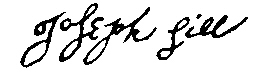 Joseph Sill's signature from 1685