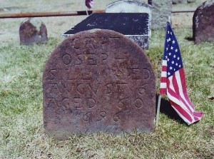 The grave of Captain Joseph Sill, Duck River Cemetery, Old Lyme, CT