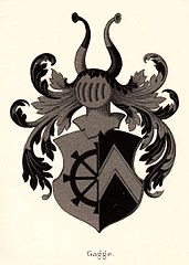 Arms of Henning Gagge, his father Jørgen and grandfather Erik