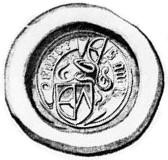Wax seal of Henning Gagge