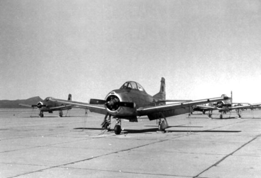 T-28A, the type of aircraft flown by Bill Gmelin on June 16, 1955, at Marana AFB