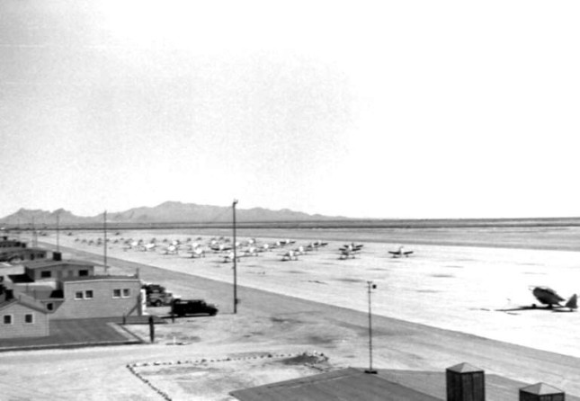 T-28A aircraft at Marana Air Base in 1955